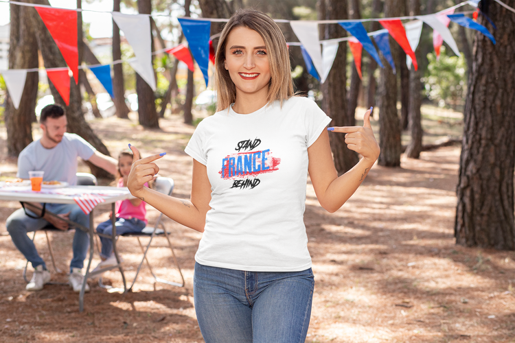 Stand Behind France T-Shirt  Dam