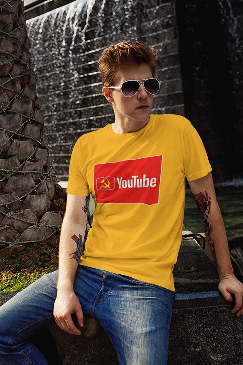 YouTube. Tshirt Herr. Youtube are killing the truth