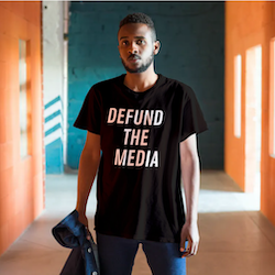 Defund The Media T-Shirt Herr