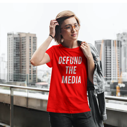 Defund The Media T-Shirt Dam