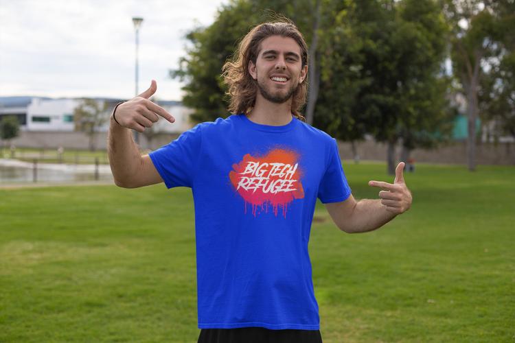 Big Tech Refugee T-Shirt Herr
