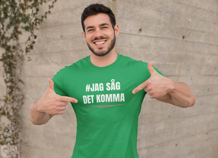 Herr T-Shirt Social Demokraterna Jag såg det komma T-Shirts