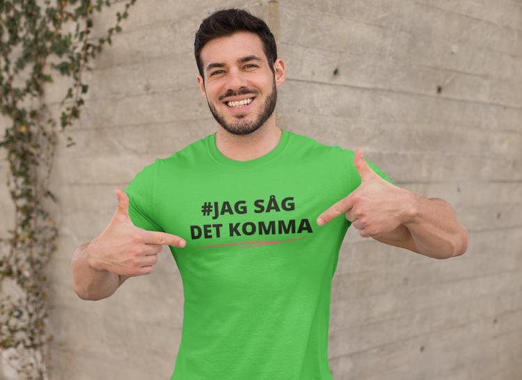 #Jagsågdetkomma , svenska folket kräver Löfvens avgång. T-Shirt Herr. Extraval 2021 Sverige