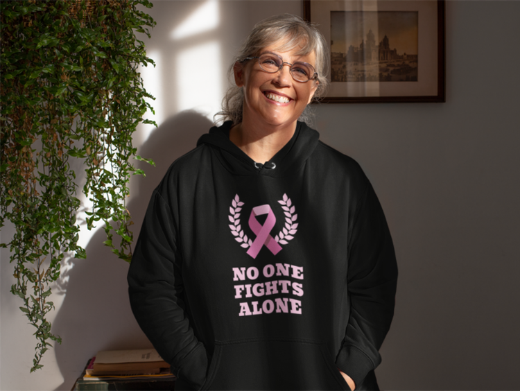No One Fights Alone Hoodie Dam