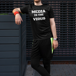 Media Is The Virus T-Shirt Herr