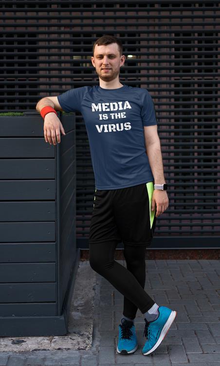 Media Is The Virus T-Shirt Herr