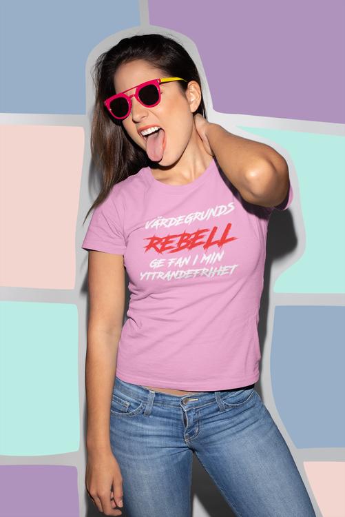 Värdegrunds Rebell T-Shirt  Dam
