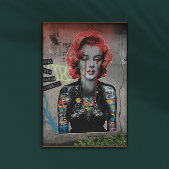 Marilyn Monroe Street Art Poster