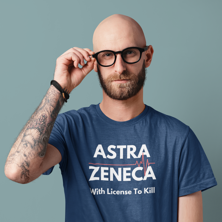 T-Shirt AstraZeneca T-Shirt. With License To Kill