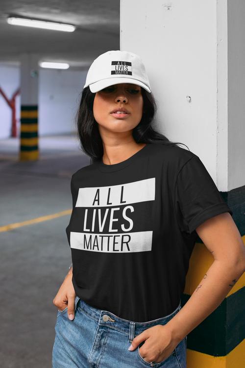 All Lives Matter Tshirt. Thirt med tex All Lives Matter. Dam tröja med tryck i flera storlekar