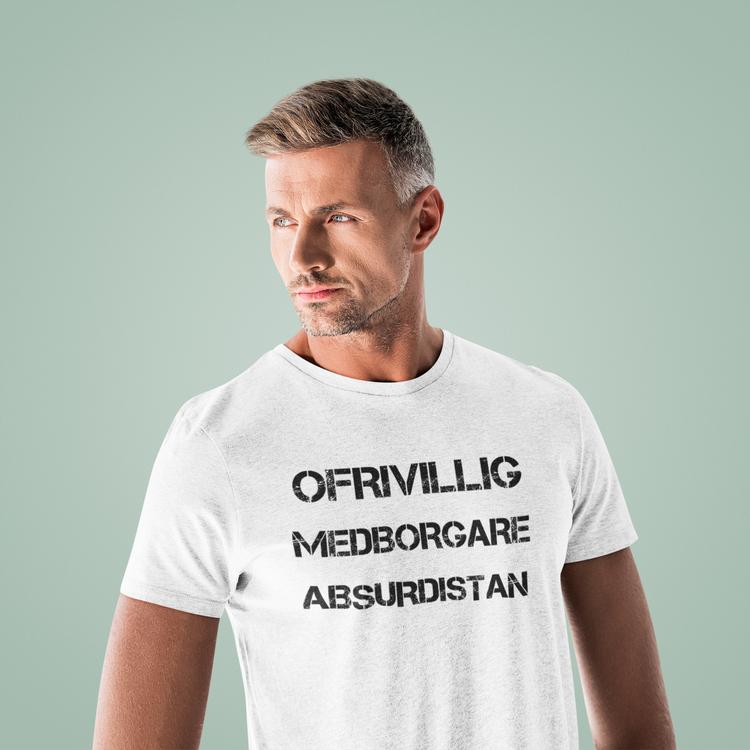 Tshirt med tryck Herr. Ofrivillig Medborgare i det svenska absurdistan