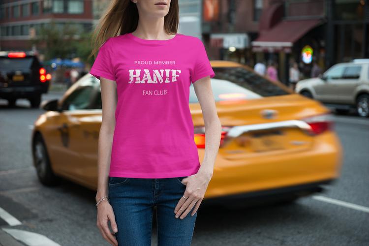 Tshirt Dam Hanif Bali. Text: Proud Member Hanif Bali Fan Cluc