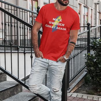 Make Sweden Great Again T-Shirt Herr