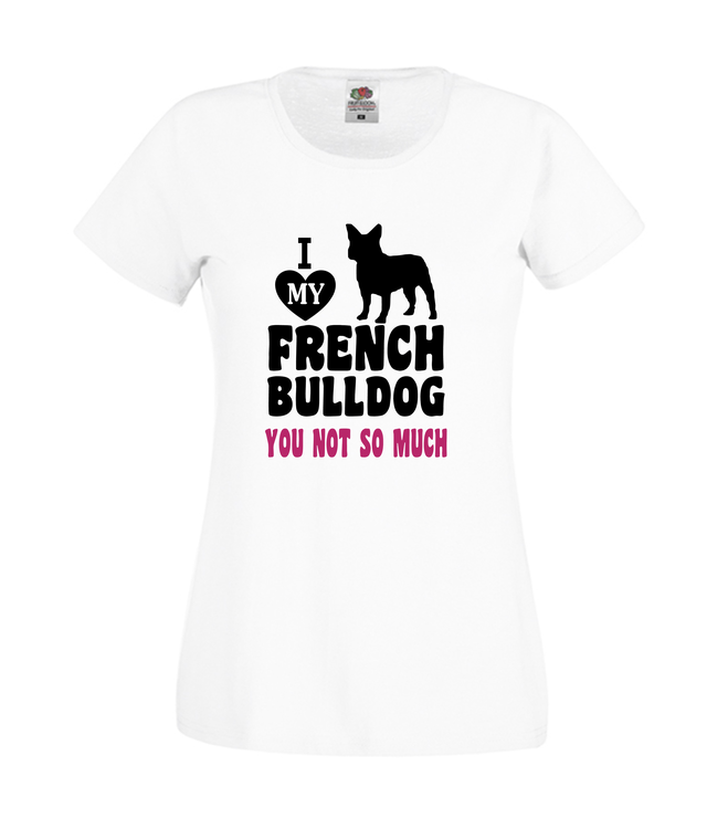 Fransk Bulldog Tshirt-French Bulldog Tshirt-Love my frenchie