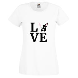 Fransk Bulldog Love T-Shirt