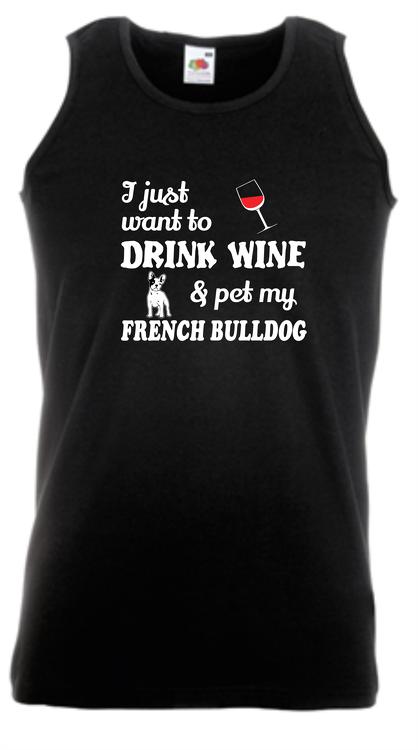 Fransk Bulldog Linne , French Bulldog Tank Top