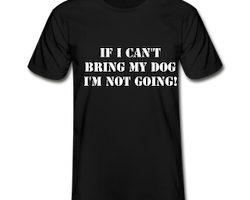 Not Without My Dog T-Shirt Herr