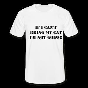 Tshirt Not Without My Cat-Vit Tshirt Herr