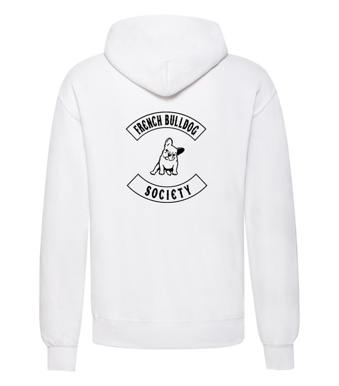 Hoodie Fransk Bulldog- Vit Hoodie