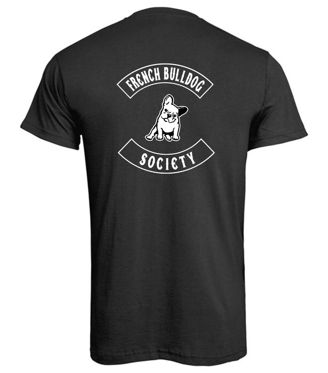 TShirt-franskbulldogsociety-Svart Herr-T-shirt