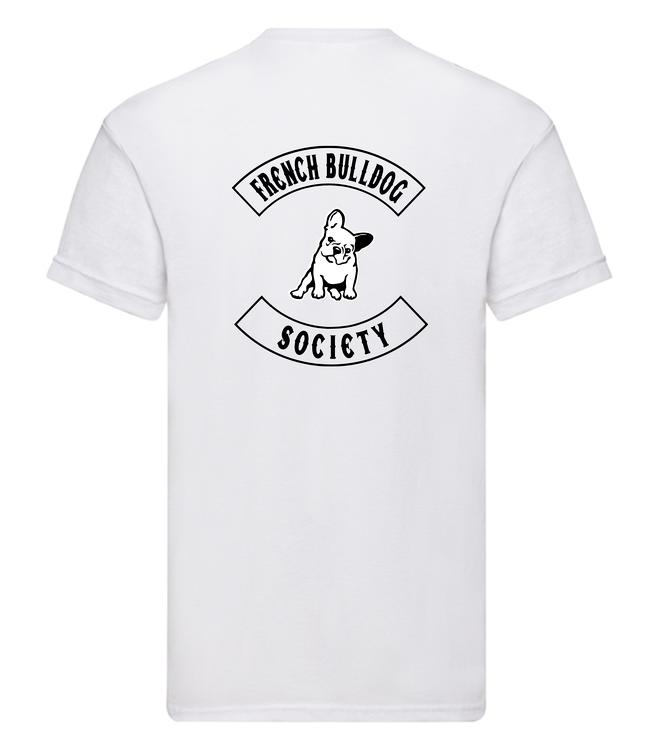 TShirt-franskbulldogsociety-Vit Herr-T-shirt