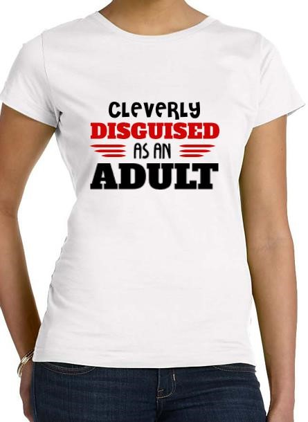 Tshirt Disquised-as an adult T-Shirt women