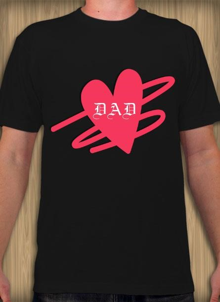 DAD Heart T-Shirt Herr