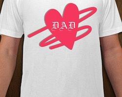 DAD Heart T-Shirt Herr