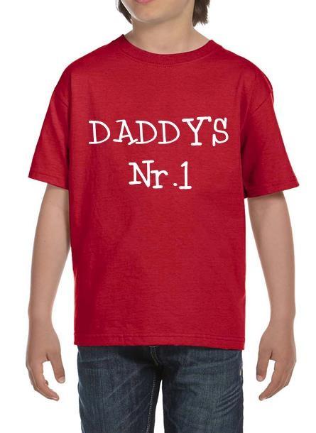 TShirt Dad's Nr 1- Röd Tshirt Barn