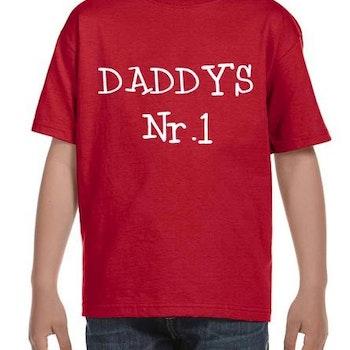 DADDY'S Nr1 T-Shirt Barn Svart/Vit/Röd