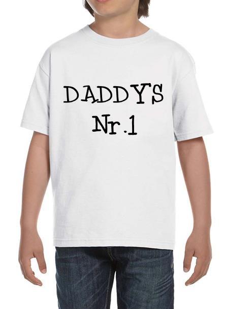 TShirt Dad's Nr 1- Vit Tshirt Barn