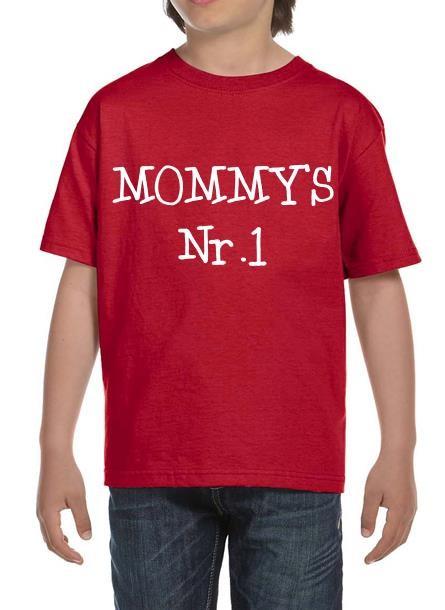 TShirt Mommy's Nr 1- Röd Tshirt Barn