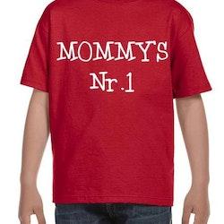 MOMMY'S Nr1 T-Shirt Barn Svart/Vit/Röd