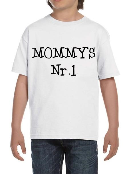 TShirt Mommy's Nr 1- Vit Tshirt Barn