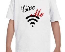 WiFi Kid T-Shirt Barn Svart/Vit