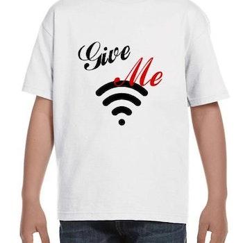 WiFi Kid T-Shirt Barn Svart/Vit