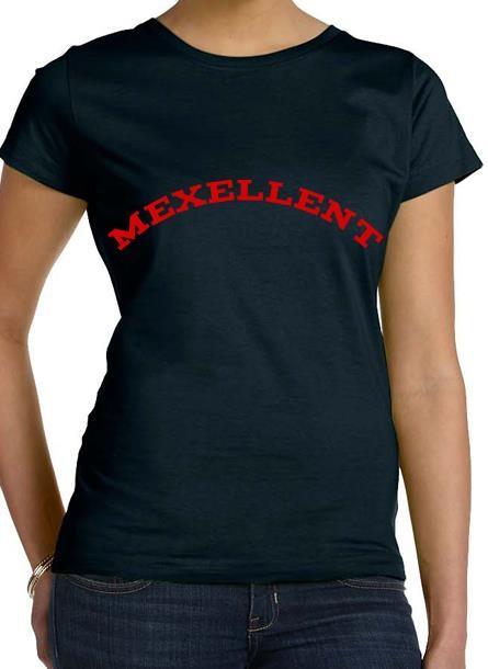 Tshirt Me Xellent-Svart Tshirt Dam, I am excellent
