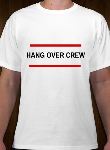 Tshirt Hangover-Vit Tshirt Herr