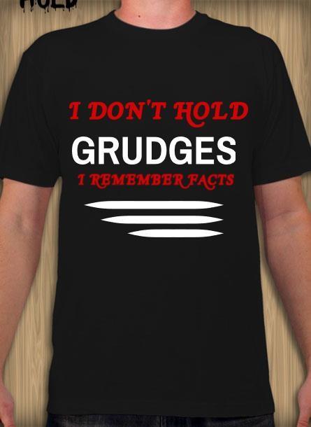 Tshirt med tryck. I hold no  Grudges-Svart Tshirt