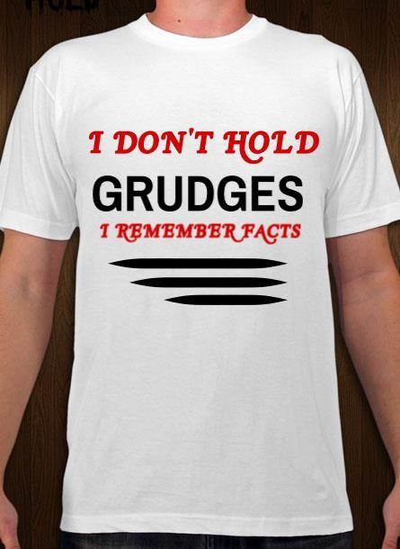 Tshirt Grudges-Vit Tshirt Herr