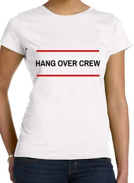 Tshirt Hangover-Vit Tshirt Dam