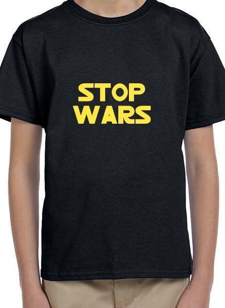 TShirt Stop Wars- Svart Tshirt Barn
