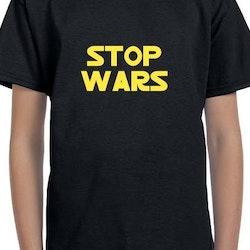 Stop Wars T-Shirt Barn Svart/Vit