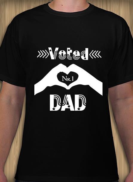 Tshirt DadNr1-Svart Tshirt