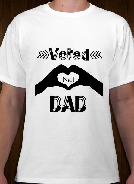 Tshirt DadNr1-Vit Tshirt