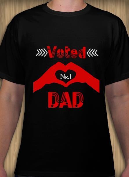 Tshirt med tryck, Tshirt Dad nr1