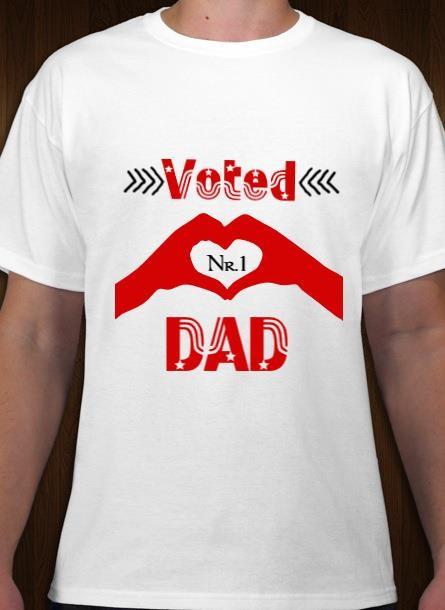 Tshirt med tryck, Tshirt Dad nr1 Vit