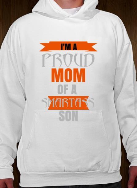 Hoodie Proud Mom Son- Vit Hoodie