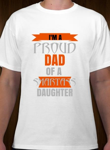Tshirt med tryck, T-Shirt Proud Dad, Stolt Pappa