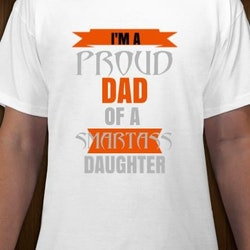 Proud Dad To A Smartass Daughter T-Shirt Herr